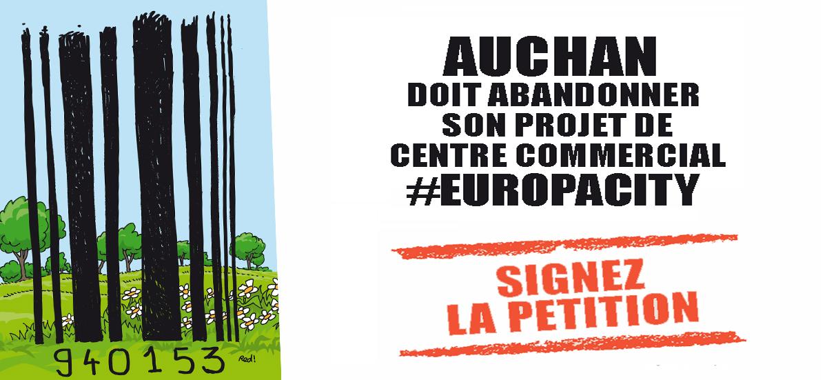 URGENT - Stop au centre commercial #EuropaCity à Gonesse ou ailleurs !!!